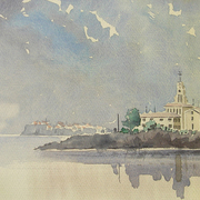 Sozopol_naval_college_from_the_sea_card