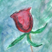Second_red_rose_watercolor_painting_4-6-09-crop_version_card