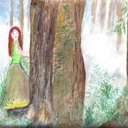 Red_haired_lady_in_forest____2_card