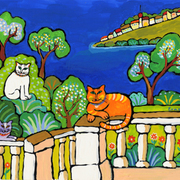 Cats_on_the_côte_d_azur_card