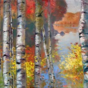 Birch_trees_and_the_lake__36x48_card