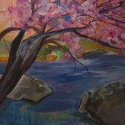 Ugallery_2_cherry_blossom__and_stream_card