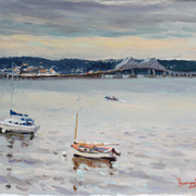 A_quiet_afternoon_on_hudson__16x20_card