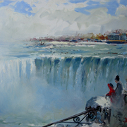 Niagra_falls__blue__11x14_card