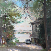 Nyack__the_house_and_the_trees_by_hudson_river__24x36_card