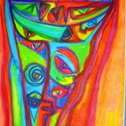 No_eye-_oil_pastel_card