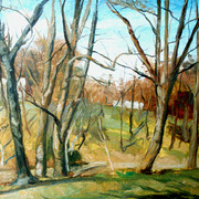 Bare_woods__oil_study_card