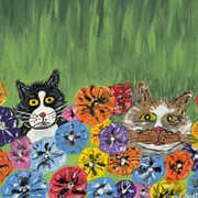 Newtwocatsintheyard_card