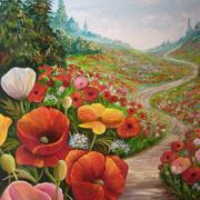 Through_the_poppy_field1_card