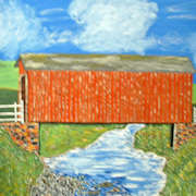 The_red_covered_bridge_card