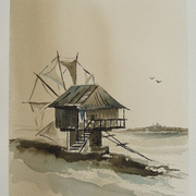 Sozopol_old_windmill_sepia_card