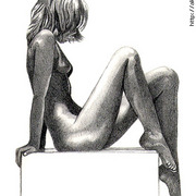 Seatednudesketch_card