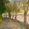 Nyack_park__trees___river_and_the_town__20x24_thumb