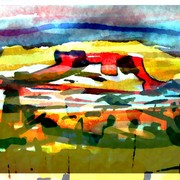 Layers_two_water_colours_card