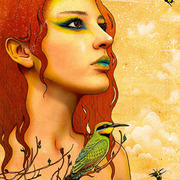 Rainbow_bee_eater-fairy-fantasy_art_card