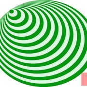 Op_art_bullseye_excentric_pale_green_deep_green_card