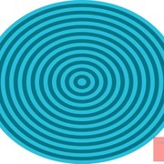 Op_art_bullseye_orange_blue_pale_blue_card