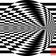 Op_art_contrasting_concentric_circles_black_and_white_two_card