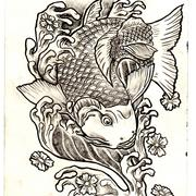 Koi_fish_card
