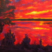002_sunset_at_the_lake_card