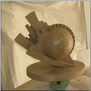 Impatto_globale-_scupture_on_bronze-_35x50x52_card