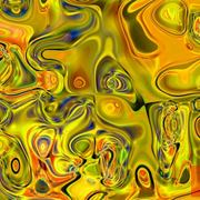 Genetic_art_melting_plastic_yellow_green_orange_card