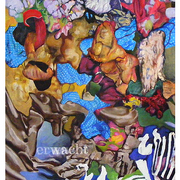 Erwacht___50_x_60_cm___acryl__collage_on_canvas__2011_card