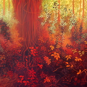 The_hanging_vines_of_southey_wood_-_acrylic_on_canvas_30x40inches_june_2011_card