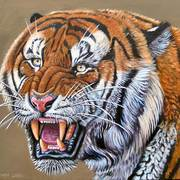 Snarling-tiger_card