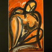 Seated_nude_with_red_card