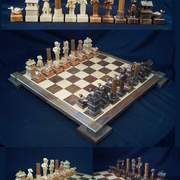 Duck_hunting_chess_set__a_card