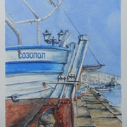Sozopol_boats_ii_card