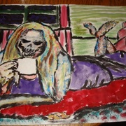 Before_her_morning_coffee_card