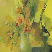Yellow_bouquet_44x67_1990_tempera_card