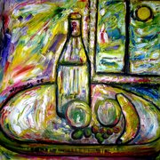 A_bottle_of_water_and_fruit_in_the_sun_card