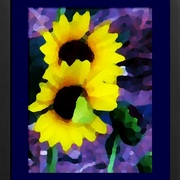 F_abstract_sunflower_yellow_blue_frm_card