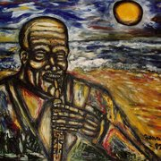 The_sax_player_in_the_sun_card