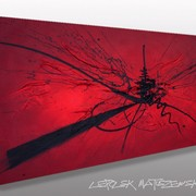 Red_word_lepolsk_matuszewski_art_axpressionnisme_abstrait_contempoarin_lyrique_signature_card