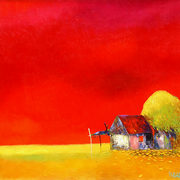 Red_sky_over_the_village_card
