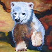 _261_polar_bear_cub_acrylic_on_canvas__11x14__card