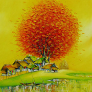 91_sunrise_in_village_card