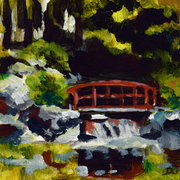 B9_bridge_over_back_yard_creek_acrylic_on_board_5