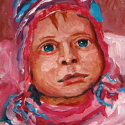 S17__winter_baby_acrylic_on_canvas_board_6x8__card