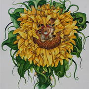 Stuff_bear_in_sunflower_card