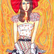 Bow_red_lady_skirt_card