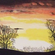 Sunrise_at_tean_xmas_eve_watercolour_cropped_35_card