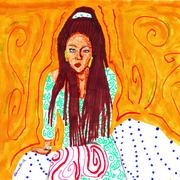 Braids_woman_sitting_card