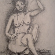 Antonio_cayanan-woman_threading_cotton_2011_9x12_inches_graphite_on_papel_card