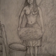 Antonio_cayanan-ifugao_woman_winnowing_rice_2011_9x12_inches_graphite_on_papel_card