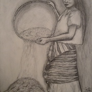 Antonio_cayanan-woman_winnowing_rice_salakot_2011_9x12_inches_graphite_on_papel_card
